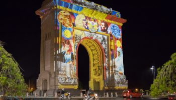 Artistic Projection @ Arc de Triomphe